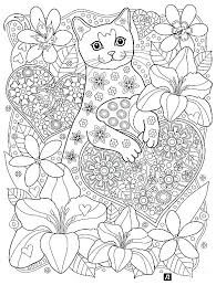 Cats Coloring Pages For Adults At Getcoloringscom Free Printable