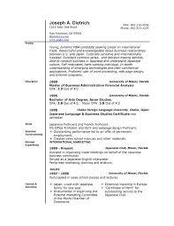 Resume Examples Word Pelosleclaire Com