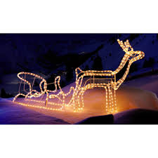 reindeer and sleigh rope light