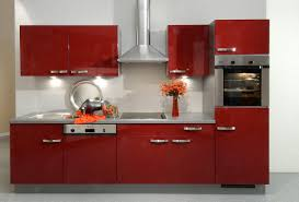 Red Kitchen Rustic Red Kitchen Cabinets Zampco