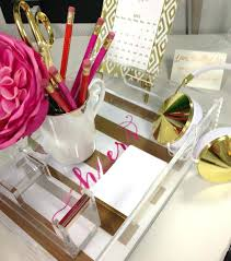 full image for womens office desk accessories gold desk accessories love the lucite and gold with