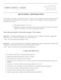 Job Objectives Resume Job Objective Sample Englishor Com