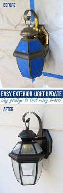 cheap outdoor lighting fixtures. easy exterior light update what a great before and after for the cost of two cans spray paint i have four new lights cheap outdoor lighting fixtures p