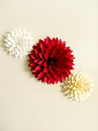 Dahlia Flower Making With Paper Pin On Diy