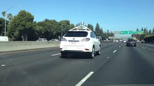 car driving on highway. Exellent Driving Google Self Driving Car On Highway 101 With On Y