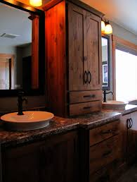 rustic bathroom double vanities. Beautiful Bathroom RUSTIC Bathroom Double Vanity Ideas  Rustic Alder Cabinetry Highlights The  Vanities In Sam And And Bathroom Double Vanities W