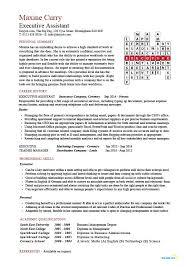 Executive Assistant Resume Example Sample Job Description Resume