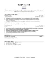 Resume Template Format Sample Examples Layout Free Printable