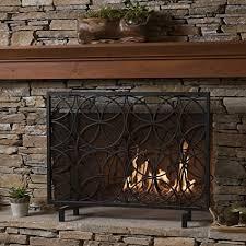 iron fireplace screen. Veritas Single Panel Black Iron Fireplace Screen .