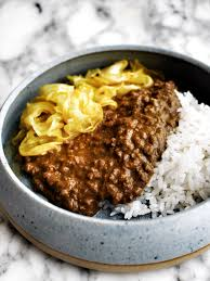 beef mince curry and rice recipe