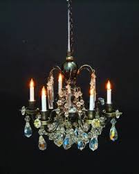real crystal renaissance 6 arm chandelier