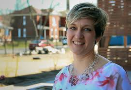 christie huck pictured here in march 2016 helped start city garden montessori school as a pa she s now executive director of the charter school in