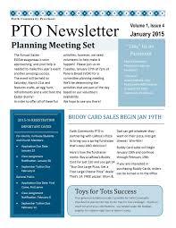 Pta Newsletter Templates In Word Pta Newsletter Examples