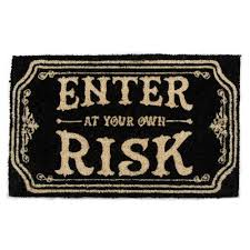 Enter at your own risk Doormat - Putti Christmas Canada - Putti ...