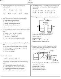 electrochemistry practice questions