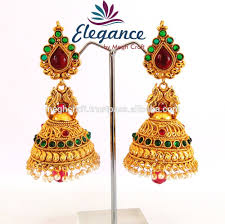 Artificial Jhumka Designs With Price Wholesale Indian Ethnic Earring One Gram Gold Jewelry South Indian Pearl Jhumka Earrings Imitation Jewellery Buy One Gram Gold Earrings Designs