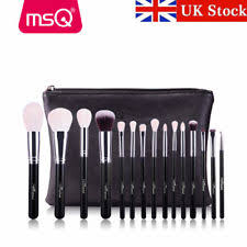 uk delivery msq 15pcs soft makeup brushes professional make up brush sets black