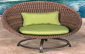 Artificial Wicker Outdoor Chair Green Cushions white wicker