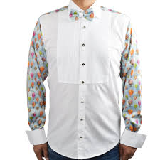 Men's Patterned Dress Shirts New Evening Dress Shirts For Men Claudio Lugli Bow Tie Shirt