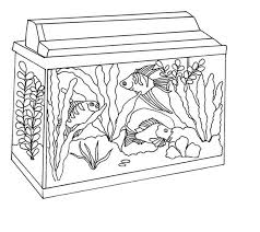 Small Picture Awesome Fish Tank Coloring Page NetArt