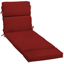 Shop Garden Treasures Red Red Solid Standard Patio Chair Cushion