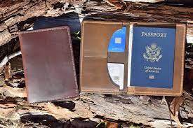 horween leather passport wallet made in usa passport holder image 0