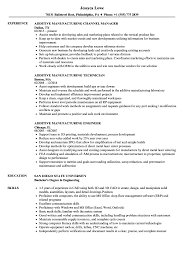 Additive Manufacturing Resume Samples | Velvet Jobs