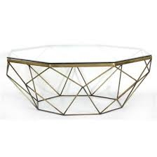 Antique Brass Glass Coffee Table Marlow Geometric Coffee Table Antique Brass
