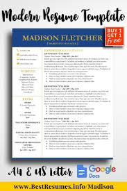 Resume Template Madison Fletcher Resume And Cover Letter Examples