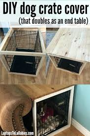dog crate furniture diy dog crate cover that doubles as an end table handmade life diy dog crate furniture diy