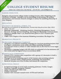 college-student-resume-sample College Student Resume (no work experience)
