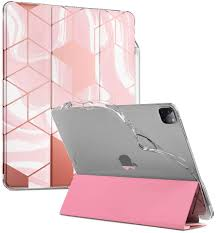 The widest colour range for ipad pro 11 2nd gen 2020 on the market. Amazon Com Popshine Marble Lite Series Designed For Apple Ipad Pro 12 9 2020 2018 Case Smart Cover With Pencil Holder Flexible Soft Clear Tpu Back Slim Fit Trifold Stand Folio Front Liquid