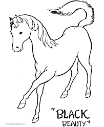 Small Picture Printable Coloring Pages of Horses to Color