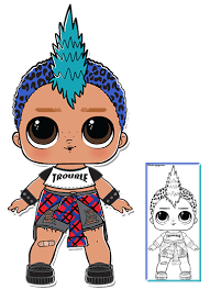 Punk Boi Series 3 Lol Surprise Doll Coloring Page Abis Stuff