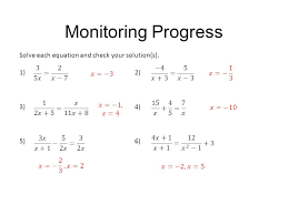 8 monitoring progress solve each equation and check your solution s 1 2 3 4 5 6