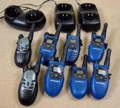 motorola k7gmcbbj. motorola walkie talkie lot of 8 with chargers and recharged batteries - k7gmcbbj f