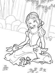 白雪姫のイラスト下絵 女の子向けお姫様 プリンセスの塗り絵
