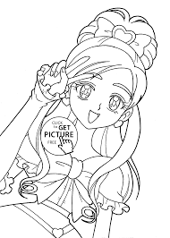 Pretty Cure Characters Anime Coloring Pages For Kids Printable Free
