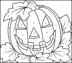 Print all of our pumpkins for free! Halloween Pumpkin Printable Color By Number Page Coloriage Magique Coloriage Halloween A Imprimer Coloriage Halloween