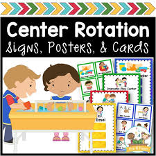 Center Rotation Signs And Cards Pre K Pages