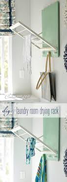 diy laundry room drying rack brilliant diy laundry room organization ideas and tips