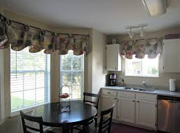 image of contemporary kitchen curtains for bay window