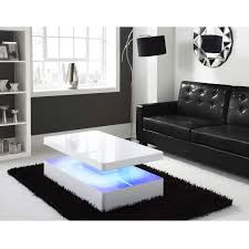 high gloss white coffee table with led lighting