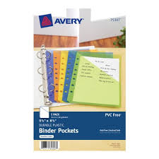 Avery Mini Binder Pockets Fits Three Ring And Seven Ring Binders