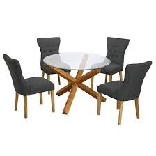 round glass dining table and chairs stylish kitchen tables inside ideas 15