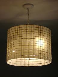 lamp shades for chandeliers lamp shade en wire and ribbon actually i think hardware cloth