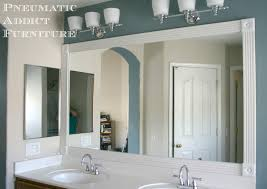 impressive trim around bathroom mirror on bathroom in add trim to bathroom mirror wood around diy molding mirrors frame 10