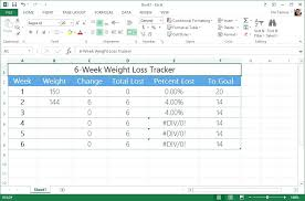 Weight Loss Challenge Spreadsheet Template Via Percentage