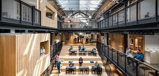 dublin office. Air BnB Transforms Warehouse Into Headquarters In Dublin Office
