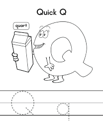 Small Picture Q Coloring Pages Free Quart Quick Alphabet Coloring Pages Q For